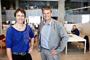 Alice Johnsen og Finn Bruun Ravnsbæk.