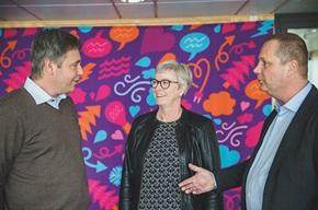 Hans Astermark og Jerry Johansson fra PostNord Strålfors har som digitaliseringspartnere et tæt samarbejde med Eva-Lena Berglund og Skellefteå Kraft.
